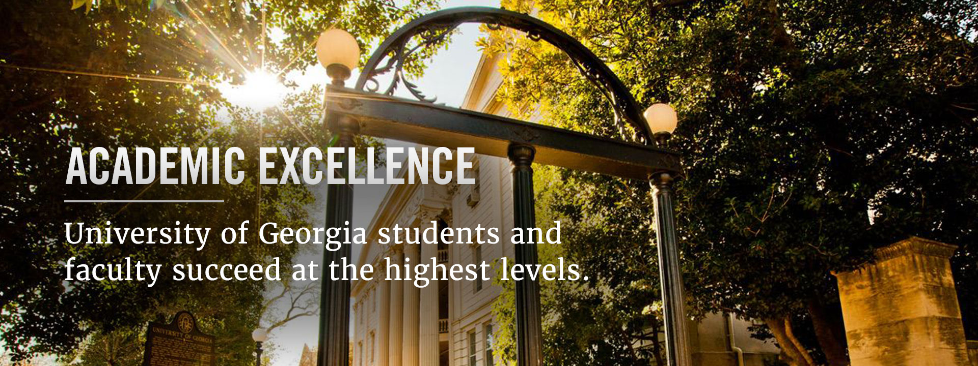 University of Georgia students and faculty succeed at the highest levels