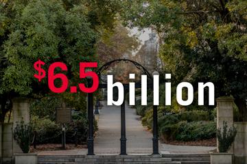 The University of Georgia's annual economic impact to its highest level yet: $6.5 billion.
