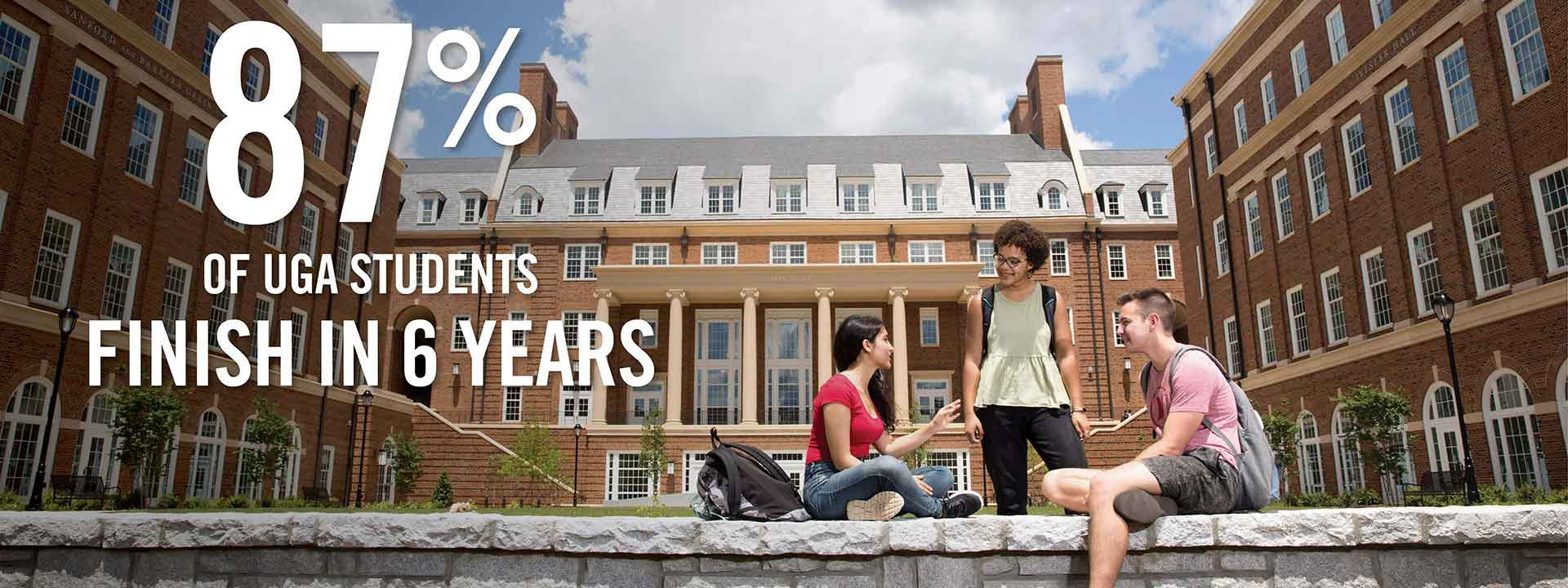 Completion rates at the University of Georgia continue to set records, thanks to a number of ongoing initiatives to enhance the academic environment and student support.
