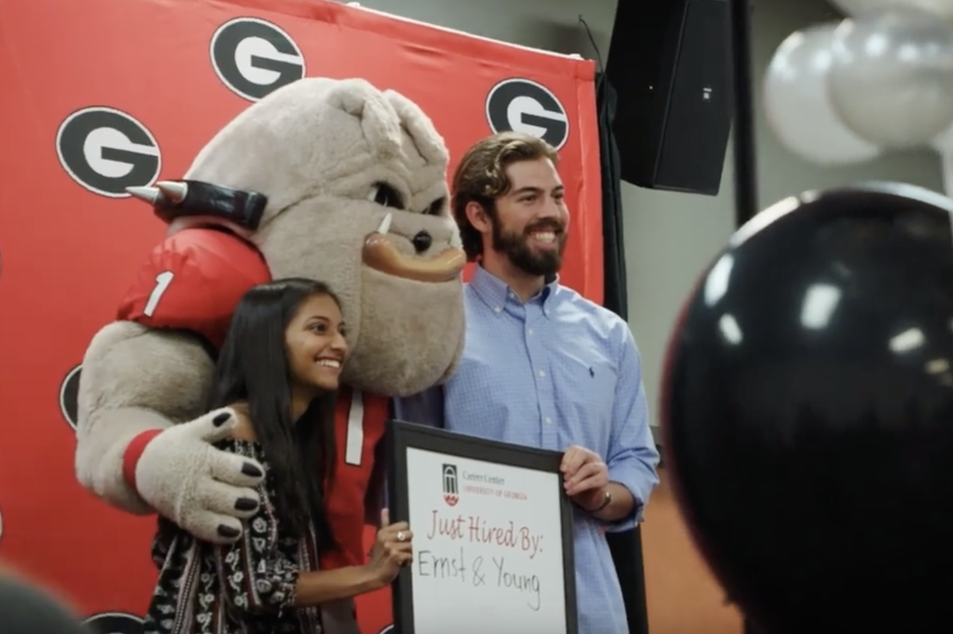 Class of 2019 photos with Hairy Dawg