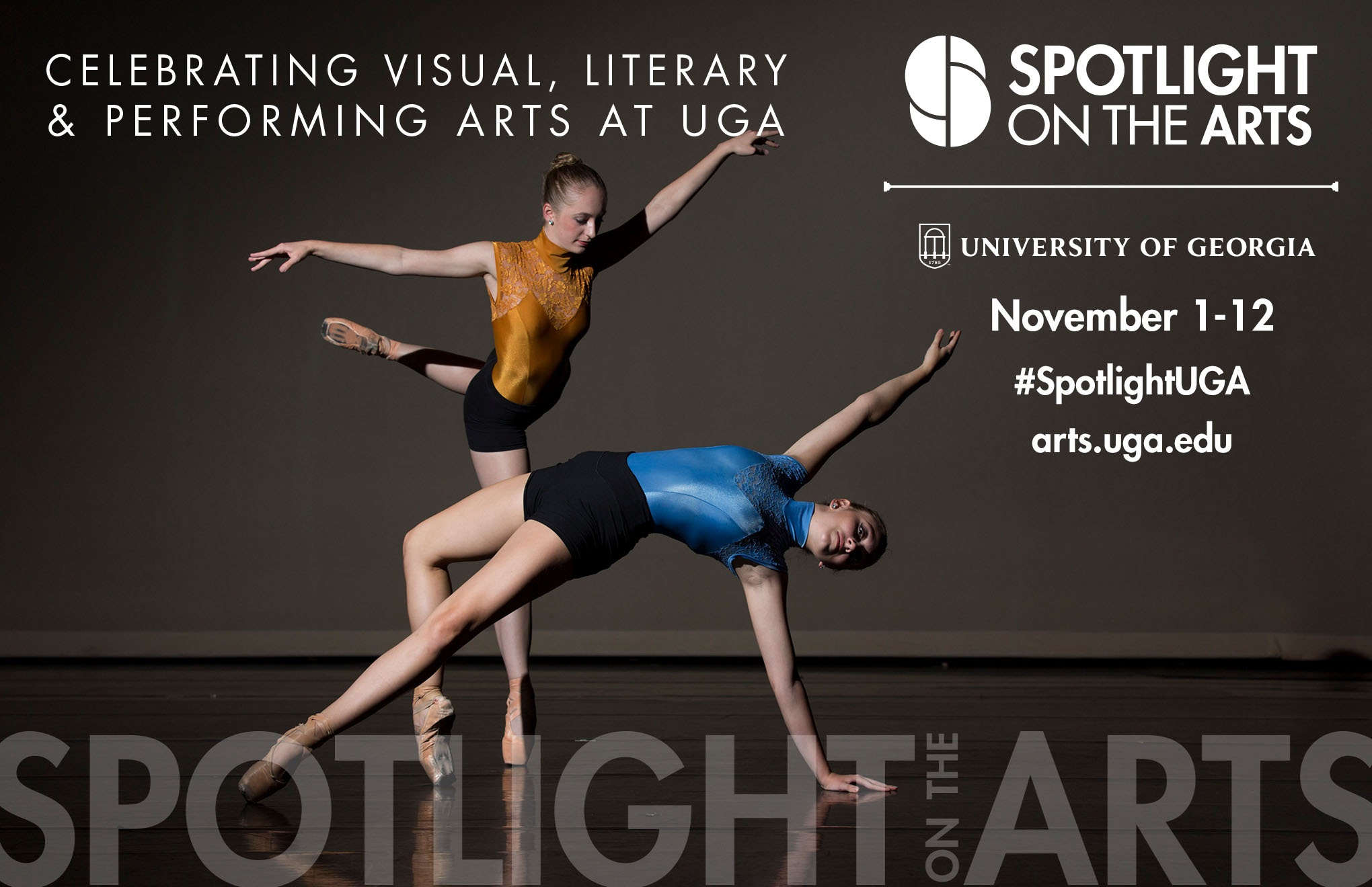 UGA is celebrating its myriad offerings in the visual, literary and performing arts from Nov. 1 – 12 during the sixth annual Spotlight on the Arts festival.