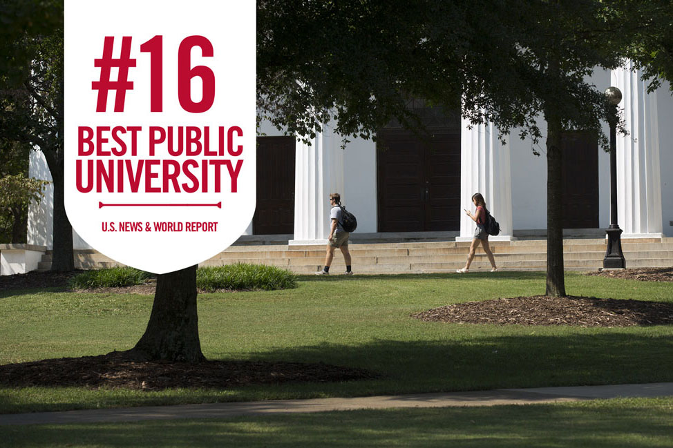 The latest U.S. News and World Report ranking of national universities places the University of Georgia at 16th among public universities—our highest ranking ever.